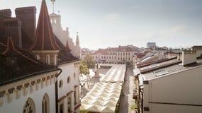 Luchtpanorama van stadsvierkant in Rzeszow Royalty-vrije Stock Afbeelding