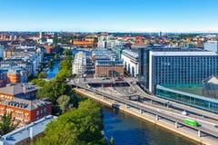 Luchtpanorama van Stockholm, Zweden Royalty-vrije Stock Afbeelding