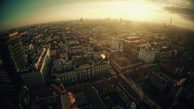 Luchtpanorama van Zagreb stock video