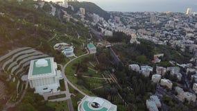 Luchtparade van een park in Israël tijdens de zomer stock footage