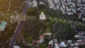 Luchtparade van een park in Israël tijdens de zomer stock video