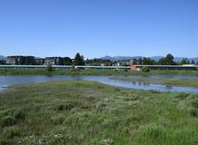Luchtpark Courtenay, het Eiland van Vancouver Stock Afbeeldingen