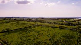 Luchtplatteland Royalty-vrije Stock Afbeelding