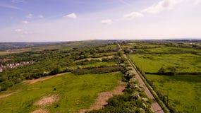 Luchtplatteland Royalty-vrije Stock Afbeeldingen