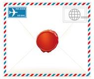 Luchtpostbrief Stock Afbeelding