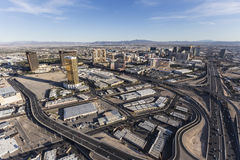 Luchtroad en de Toevlucht van Las Vegas Royalty-vrije Stock Afbeelding