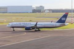 Luchtroutes 757 van de V.S. stock afbeeldingen