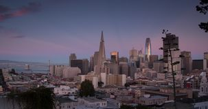 Luchtsan Francisco Sunset stock videobeelden