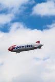 Luchtschip van Edelweiss stock afbeelding