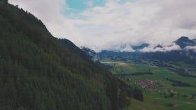 Luchtschoonheid van Zwitserland stock videobeelden