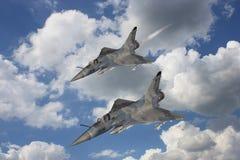 Luchtspiegeling - de Vliegtuigen van de Vechter vector illustratie