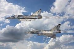Luchtspiegeling - de Vliegtuigen van de Vechter royalty-vrije illustratie