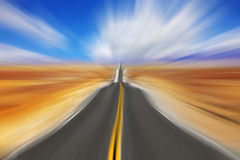 Luchtspiegeling op hoge snelheid Stock Foto