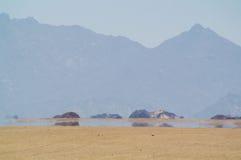 Luchtspiegeling in woestijn Royalty-vrije Stock Foto