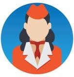 Luchtstewardess Vector Illustration Icon wat zich gemakkelijk kan wijzigen of uitgeven stock illustratie