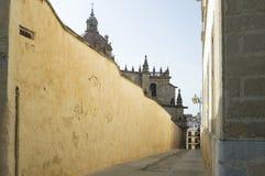 Luchtstraat in jerezde La frontera Royalty-vrije Stock Fotografie