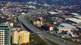 Luchttimelapse van de snelwegen van San Antonio 4K stock video