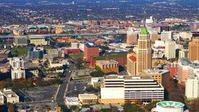 Luchttimelapse van de stadscentrum van San Antonio 4K stock videobeelden