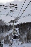 Luchttramspoor aan de berg. Stock Afbeeldingen