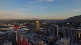 Luchtutah Salt Lake City stock videobeelden