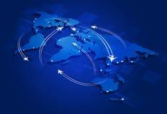 Luchtvaartachtergrond Royalty-vrije Stock Foto