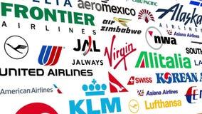 Luchtvaartlijn Logo Loop stock illustratie