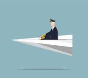 Luchtvaartlijn proef royalty-vrije illustratie
