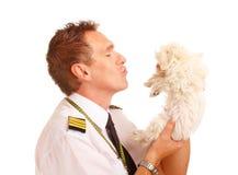 Luchtvaartlijn proef met hond Royalty-vrije Stock Afbeelding