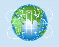 Luchtvaartlijnen stock illustratie
