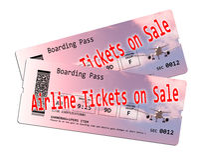 Luchtvaartlijnkaartje op verkoop Royalty-vrije Stock Afbeeldingen