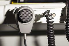 Luchtverkeersleider en microfoon Royalty-vrije Stock Foto
