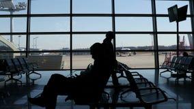 Luchtvervoerconcept stock videobeelden