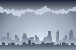 Luchtvervuiling royalty-vrije illustratie