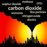 Luchtvervuiling vector illustratie