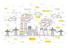 Luchtvervuilings vectorillustratie royalty-vrije illustratie