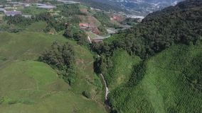 Luchtvideo van Cameron Highland stock video