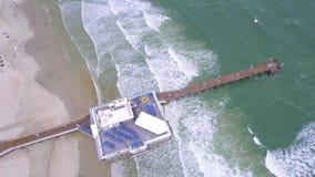 Luchtvideo van de de Pijler en promenade van Daytona stock videobeelden