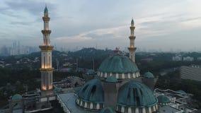 Luchtvideo van de Federale Moskee van het Grondgebied stock videobeelden