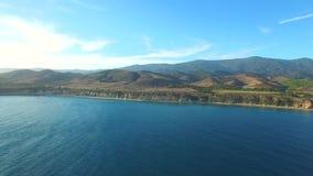 Luchtvideo van Malibu Californië stock footage
