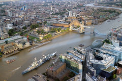 Luchtviev van Londen royalty-vrije stock afbeeldingen