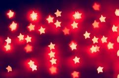 Luci al neon delle stelle rosse Immagine Stock