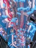 Luci al neon in via di Fremont, las Immagini Stock