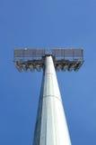 Luci alte dello stadio con il cielo Fotografia Stock Libera da Diritti