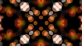Luci arancio del bokeh illustrazione di stock