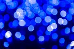 Luci astratte blu della bolla Fotografie Stock