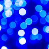 Luci astratte blu della bolla Immagini Stock
