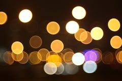 Luci astratte, flash, città di notte Fotografia Stock