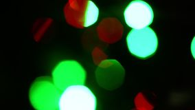 Luci cambianti Blurred stock footage