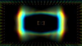 Luci che escono da un retro schermo di computer di stile illustrazione vettoriale