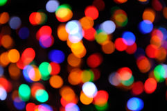 Luci colorate di festa di Natale immagine stock
